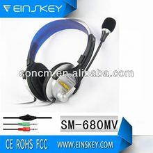 Headband print logo SM-680 earphone wire for music