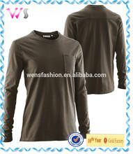Waffle Cotton Spandex Womens Blank Long Sleeve Plain T-shirts