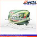 confiserie bonbons à la menthe xylitol sous étiquette privée avec melon saveur en étain peut