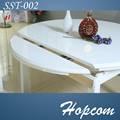 In legno massello di rovere tavolo da pranzo espandibile disegni/tavola rotonda