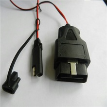 moulded 12V/24V dc cable with switch cable SPT-2 18AWG red and black manufacture low price szkuncan