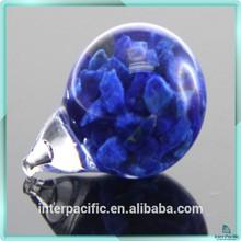 Vente chaude 8 - 20 mm verre ampoule décembre pierre de naissance anneau pendentif