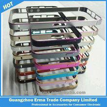 Ultra Thin Dual Color Metal Buckle Design Aluminum Bumper Case for iphone 5