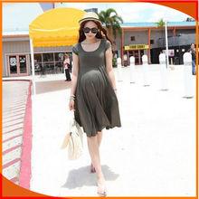 big size cotton spandex plain maternity clothes wholesale