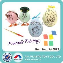 engraçado pintura diy plástico ovo de páscoa de brinquedo