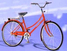 "26"" red old model lady bicycle/city bike for sale"