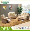 Italy leather Reclining sofa, fabric combination sofa