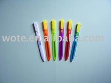 plastic bookmark pen colored for student