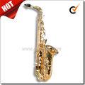Alta f# chave eb laca de ouro saxofone alto professional( sp1011g)