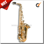 High F# Eb Key Golden Lacquer Professional Alto Saxophone (SP1011G)