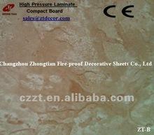 Hpl panel/Compact HPL laminate/fireproof board/hpl/1300*2800/4.3*9