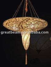 Helix Pattern Fabric Pendant Lamp