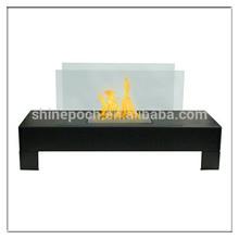 Free standing Glass Ethanol Fireplace