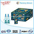 3ml, 5g, 10g, 15g, 20g, 30g, 50g cola de cianoacrilato pead garrafas vazias de plástico