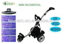 3 wheels Electric golf cart golf trolley golf buggy with Colorful LCD Digital Display HME-601Digital