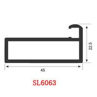 6063 T5 aluminum extruded profiles SL6063