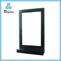 Large size wood framed bathroom mirror with shelf wholesale