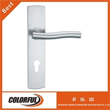 Satin Tube stainless steel with plate hollow door lever handle