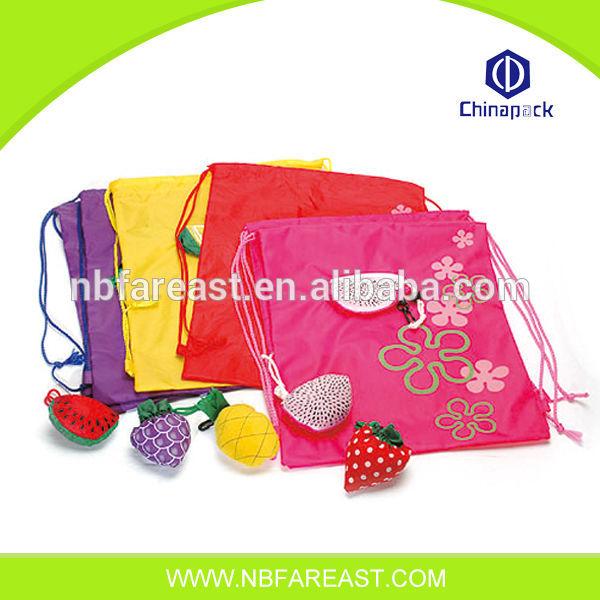 Eco- freundliche Einkaufstasche fruchtform wiederverwendbare faltbare einkaufstasche