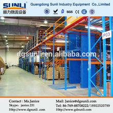 Iron storag metal mezzanine floor rack/racking