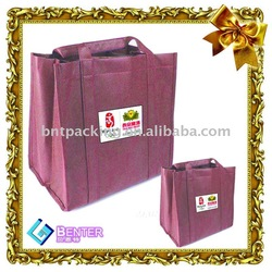 purple color pp non woven shopping bags