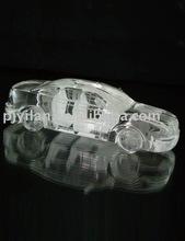 elegant traffic model engraving 3d laser crystal car