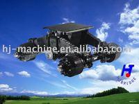 Semitrailer and dump truck bogie axles