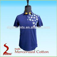 Double Mercerized cotton polo t shirt for men