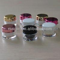 Wholesale 3ml 5ml plastic cream jar cosmetic jar 3g 5g