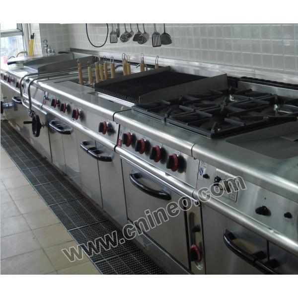 De acero inoxidable instalaciones de comida rápida, Eléctrica comercial equipo de cocina, Equipo de cocina con dibujo