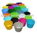 Coloridos de plástico balde de água, flexível balde de lavanderia, pe jardim cesta de armazenamento, reach