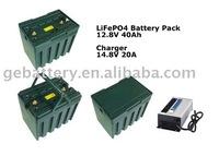 12V electric golf cart battery 40ah
