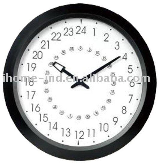 Nuevo dise o de big 24 horas reloj de pared con buena - Relojes de pared diseno ...