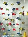 Peva imprimé bande dessinée transparentes rideaux de douche