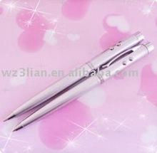 Elegant wooden case mutifunctional silvery laser pen