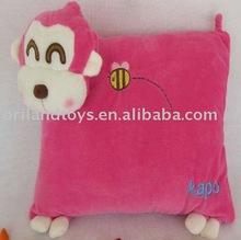 plush animal shaped cushion