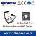 richpeace vestuário software cad design padrão do sistema