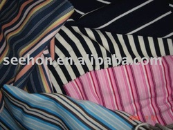 [factory]yarn dye stripe rib 1X1 fabric/tube rib
