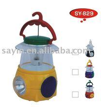 SY-829 chinese mini Camping Light hurricane hand lantern light with radio