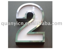 304# mirror SS LED sign letters board
