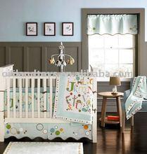 4-9pcs animal print baby crib bedding