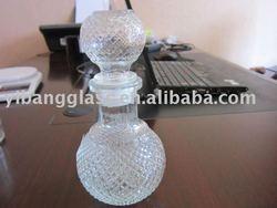crystal, clear bath salt glass bottle