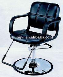 Black Hairdresser Salon Cutting Chair