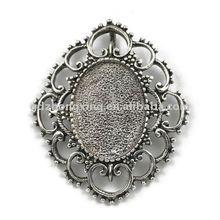 Cabochon cameo setting pendants,bezel setting-A15924