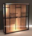 Design de luxo piso de madeira armário de exposição