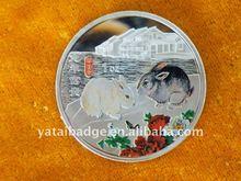 2014 fine silver item logo Two rabbit Metal Coins