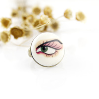 New product fashion jewelry charm jewelry distinctive eye mens designer finger rings vners