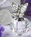 unique glass fabric crystal christmas bottle decoration