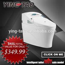 Bathroom furniture accessories automatic flush toilet Eco Automatic Operation toilet water closet automatic public toilet