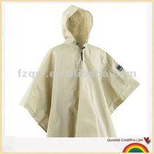 Hooded polyester waterproof biking rain poncho